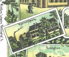 Nicht ins Merkur-Heft gelangt: Eine der sehr wenigen Darstellungen des Ritterguts von vor 1945 (Postkarte von Anfang der 1920er Jahre)