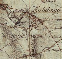 Im Merkur-Heft Abb. 2: Kursächsische Meilenblätter von 1801. Unten am Bildrand die Via Imperii, von da zulaufend der Lober, daneben ab, die gerade Linie mit Alleebäumen ist der Referenzweg